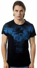 T-shirt Cavalli White Men Uomo maglietta black blu c44 crew neck Safari