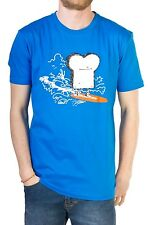 Cleptomanicx Surf's Up Toast T-Shirt (blue dive)