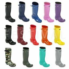 Ladies Womens Coloured Wellington Boots Fashion Festival Wellies - Size 3 - 8 UK