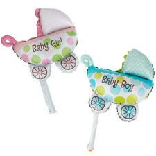 10pcs BABY STROLLER SHAPED FOIL BALLOON HELIUM/AIR BABY BOY/GIRL BIRTHDAY SHOWER