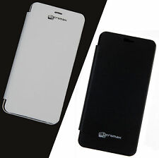 Black & White Flip Flap Cover Case For Micromax Bolt A67