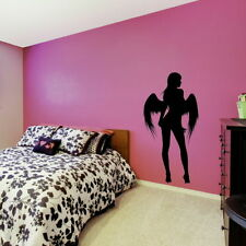 Angel Silhouette Wall Stickers / Girls Room Vinyls Fairy Lady Wall Transfer X83