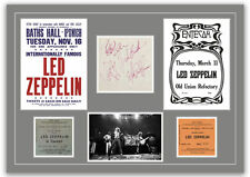 Led Zeppelin  - Autographs, Tickets, Concert Posters Memorabilia Poster 2 Sizes