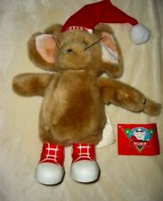 DAYTON HUDSON SANTA BEAR 1988 POLAR CLUB SNEAKERS MOUSE PLUSH NWT