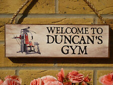 PERSONALISED HOME GYM SIGNS SHED SIGNS GARAGE SIGNS MULTI GYM EQUIPMENT FITNESS