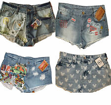 Primark denim shorts - Frozen, Coca Cola, Marvel, Mickey all sizes BNWT