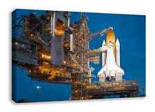 "NASA Space Shuttle Atlantis pre launch CANVAS WALL ART 44"" X 26"""