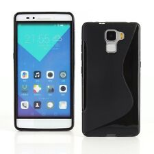 S Line Wave TPU Gel Silicone Soft Back Case Cover For Huawei Honor 7