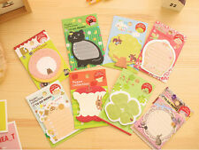 Novelty Cute Woodland Animal Sticky Notes Sticker Marker Memo Notepad Party Gift