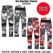 Mens Motorbike Bikers Trousers Cordura Waterproof Motorcycle Textile Fabric