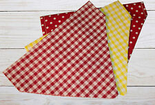 Dog Bandanas - Gingham Bandanas - Polka Dot Bandanas - 3 Pack - Attachable