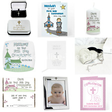 Personalised First 1st Holy Communion Day Card Cards & Gift Ideas for Boys Girls