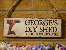 PERSONALISED SHED SIGN MAN SHED FUNNY SIGN NAME PLAQUE CORDLESS DRILL TOOL SHEDS