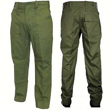 British Army Surplus Lightweight Green Military Combat Trousers Fatigue