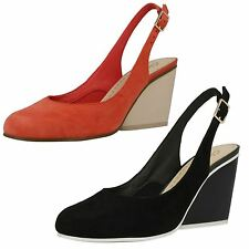 Ladies Clarks Wedge Sling Back Smart Shoes The Style - Demerara sugar
