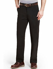 Marks & Spencer Mens Pure Cotton Chinos New M&S Black Trousers Long Smart Pants