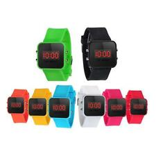 Mode Unisex Kinder Digital Sport LED Silikon Armbanduhr Quarz Armbanduhr