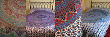 Ethnic colourful FLOWER mandala cotton Indian double bedspread hanging throw