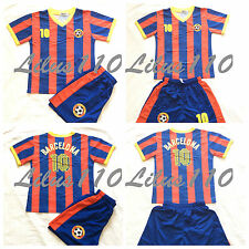 UNISEX BARCELONA FOOTBALL / SPORTS KIT - Ages 2 years to 14 Years