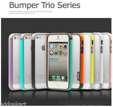 New Walnutt Tri Colour Hybrid Soft Bumper Case For Apple iphone 5c + Screenguard
