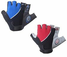 CYCLING BIKE BICYCLE HALF FINGER FINGERLESS GEL SILICONE GLOVES MEDIUM LARGE