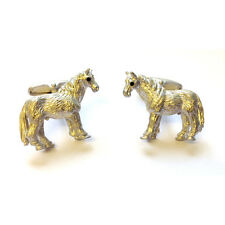 Horse Cufflinks Equestrian Present Christmas Gift Boxed Free UK Post
