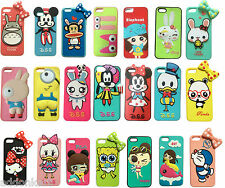 3D Pictorial Yellow Cartoon Hard shell back soft case cover for Apple iPhone 5S
