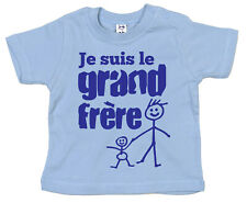 """FRANCESE fratello T-shirt """" Je suis le grand frere """" I'M Big Brother Francia"""