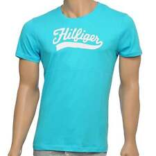 Tommy Hilfiger Men's Organic Cotton Short Sleeved Crew Neck T-Shirt, River Blue