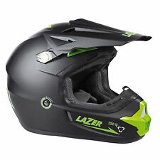 Lazer X7 X-Line Pure  Motocross Enduro Off road ATV Quad Helmet Matt Black/Green