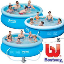 Bestway Fast Set Swimming Pool with or without Pump 8ft 9ft 10ft or 12ft Family