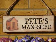 PERSONALISED SHED SIGN MAN SHED SIGN UNIQUE GIFTS OWN NAME SIGN HOUSE PLAQUE DIY