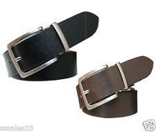REAL 100% GENUINE LEATHER BLACK & BROWN BELT FOR MEN'S OFFICIAL & FORMAL WEAR