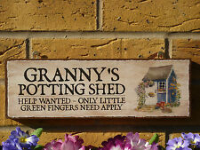 PERSONALISED SHE SHED SIGN GIFTS FOR HER NANNYS SHED HER SHED FUN GIFT OWN NAME