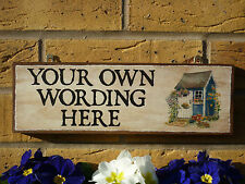 PERSONALISED SHED SIGN GARDEN SIGN MADE TO ORDER OWN NAME SIGN OWN WORDING SIGNS