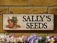 PERSONALISED GARDEN SHED SIGN POTTING SHED SEED SHED OWN NAME SIGN UNIQUE GIFTS