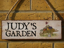 PERSONALISED GARDEN SIGN GARDENERS SIGN MADE TO ORDER GIFTS FOR THE GARDEN SIGNS