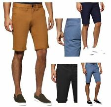 NEW MENS DESIGNER BUTTONED SUMMER HOLIDAY LIGHTWEIGHT COTTON CHINO SHORTS, BNWT