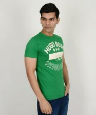 Branded Hugo Boss Athletic Green & White T-shirt For Men