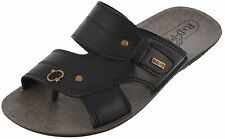 Axtry Mens Casual Slippers Chappal Black (APPLE_5_BLACK)