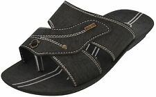 Axtry Mens Casual Slippers Chappal Black (APPLE_1_KHADI)