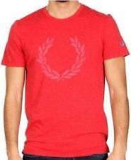 Maglia T-Shirt Uomo Maniche Corte Fred Perry Rossa T-Shirt Men Short Sleeves 300