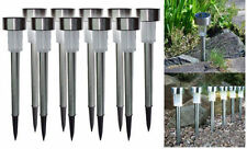 10 XSOLAR LIGHTS POST GARDEN PATIO OUTDOOR LED LIGHTING STAINLESS STEEL POWERED