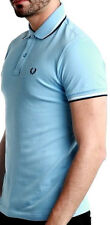 Maglia Polo Maniche Corte Azzurra Uomo Fred Perry Sweater Polo Short Sleeves Men