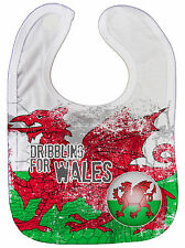 """Dirty Fingers """"Dribbling per Wales"""" Bambino Nutrimento Bavaglino Stampa Ovunque"""
