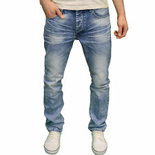 Eto Mens Designer Branded Regular Fit Straight Leg Light Stonewash Jeans, BNWT