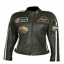 Le Signore Moto Chopper Harley Pelle giacca.Sexy Donna Motociclista Jacke.Gr 40.
