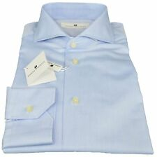 Camicia Pierre Balmain Uomo Men Shirt Button Down Regular Fr  45-1 Azzurro