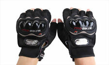 Pro-Biker Half Riding Gloves - 1 Pair for Bike / Motorcycle/Scooter Riding Black
