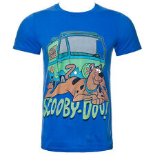Mens Blue Scooby Doo The Mystery Machine Retro Vintage Cartoon T Shirt Tee Top